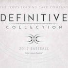 2017 Topps Definitive Collection Baseball Cards