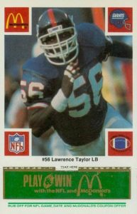 Top 10 Lawrence Taylor Football Cards 6