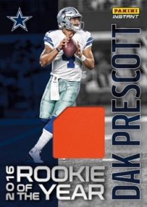 2016 Panini Instant NFL Rookie of the Year