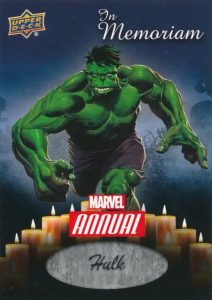 2016 Upper Deck Marvel Annual Trading Cards 26