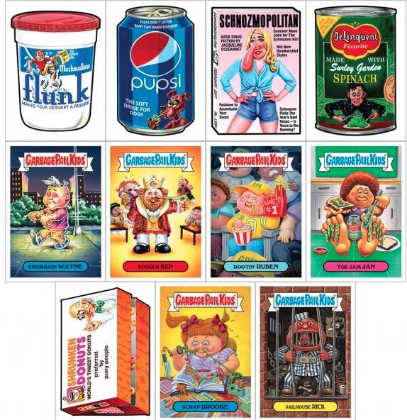 2017 Topps Jay Lynch GPK Wacky Packages Tribute Set 1