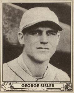 Top 10 George Sisler Baseball Cards 9
