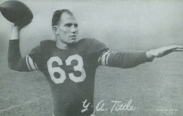Top 10 Y.A. Tittle Football Cards 9