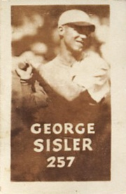 Top 10 George Sisler Baseball Cards 8