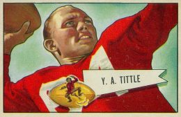 Top 10 Y.A. Tittle Football Cards 6