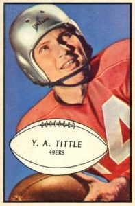Football Card 1962 Topps #102 YA Tittle New York Giants Y.A Verzamelingen Amerikaans voetbal