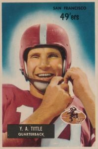 Top 10 Y.A. Tittle Football Cards 8