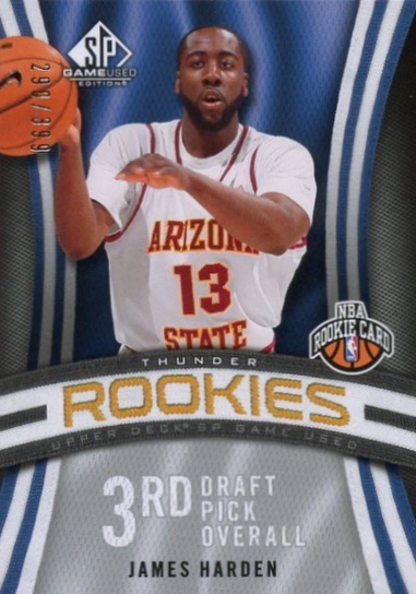 Top 10 James Harden Rookie Cards 1