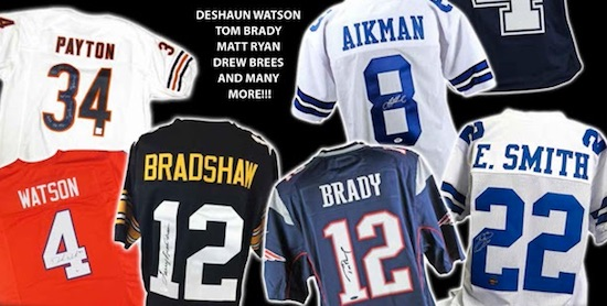 new styles 8a12e a03e9 2017 Leaf Autographed Football Jersey Set Info, Boxes, Checklist