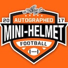 2017 Leaf Autographed Mini-Helmet Football