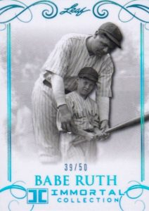 2017 Leaf Babe Ruth Immortal Collection Baseball Cards 21