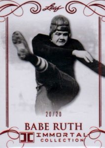 2017 Leaf Babe Ruth Immortal Collection Baseball Cards 22