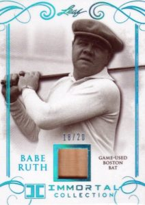 2017 Leaf Babe Ruth Immortal Collection Baseball Cards 23