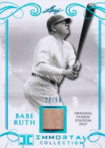 2017 Leaf Babe Ruth Immortal Collection Baseball Cards 25