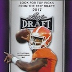 2017 Leaf Draft Football Cards - Autograph Printing Plate Packs