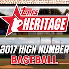 2017 Topps Heritage High Number Baseball Cards