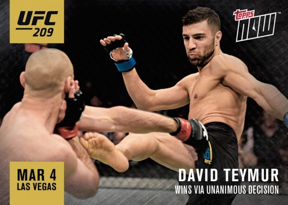 2017 Topps Now UFC MMA Cards 14