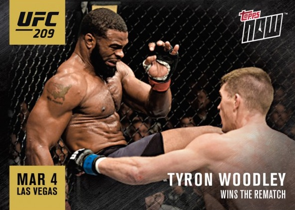 2017 Topps Now UFC MMA Cards 1