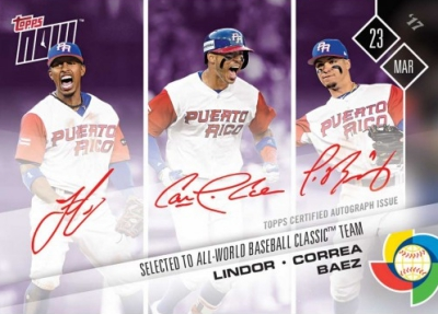2017 Topps Now World Baseball Classic Cards - USA Autographs 28