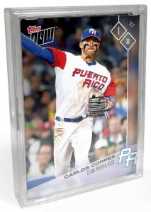 2017 Topps Now World Baseball Classic Team Sets - Final Print Runs and Bonus Cards 24