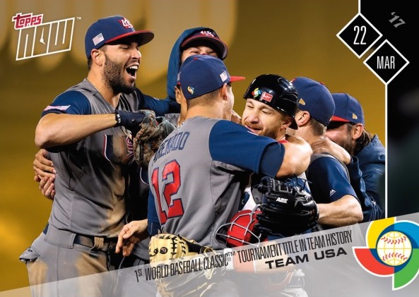2017 Topps Now World Baseball Classic Team Sets