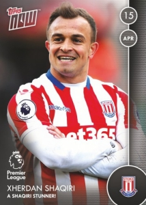 2016-17 Topps Now Premier League Soccer Cards 30