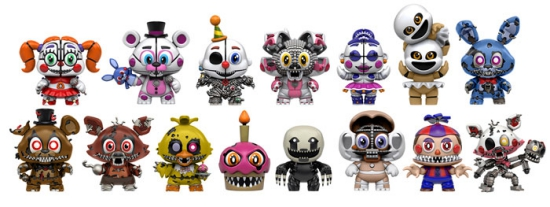 2017 Funko Five Nights at Freddy's Mystery Minis Series 2