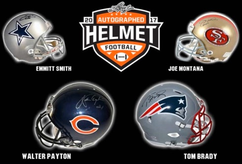 2017 Leaf Autographed Football Helmet 1