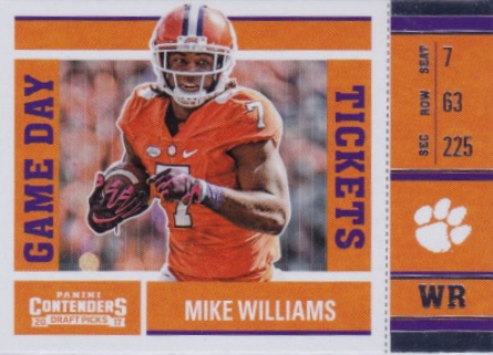 2017 Panini Contenders Draft Picks Football Cards 24