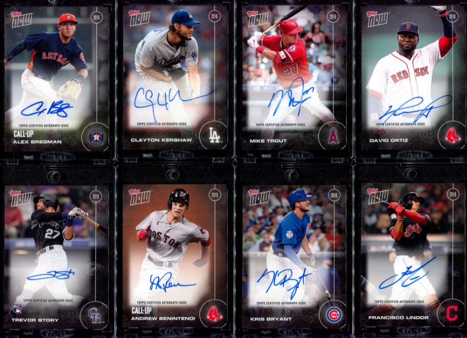 2017 Topps Now Baseball Loyalty Program Cards - Card of the Month Gallery 2
