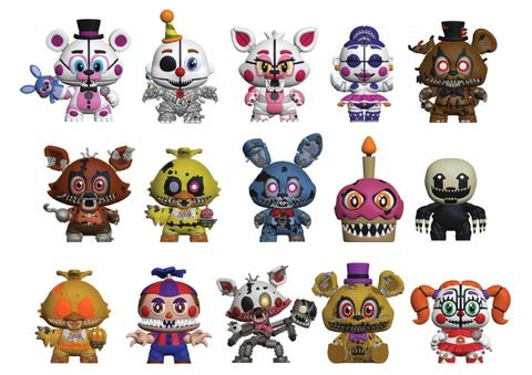 2017 Funko Five Nights at Freddy's Mystery Minis Series 2 2