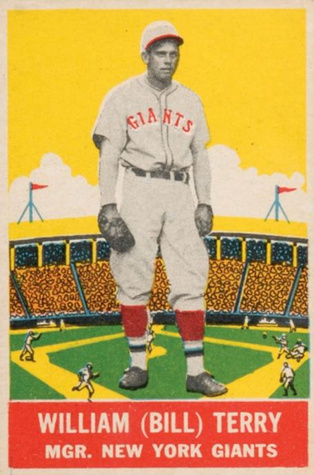 Top 10 Bill Terry Baseball Cards 9