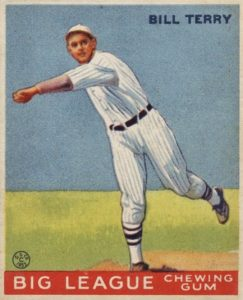 Top 10 Bill Terry Baseball Cards 10