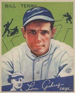 Top 10 Bill Terry Baseball Cards 6
