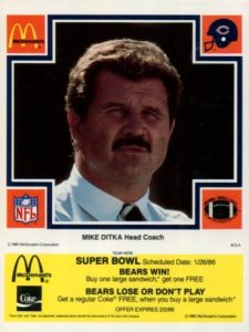 Top 10 Mike Ditka Football Cards 1