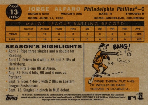 2017 Topps Archives Baseball Variations Checklist and Gallery 1