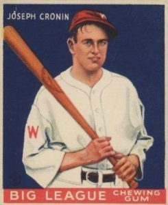 Top 10 Joe Cronin Baseball Cards 12