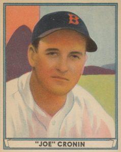 Top 10 Joe Cronin Baseball Cards 9