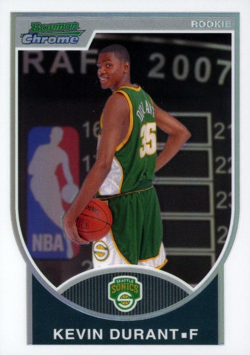 Top 15 Kevin Durant Rookie Cards 3