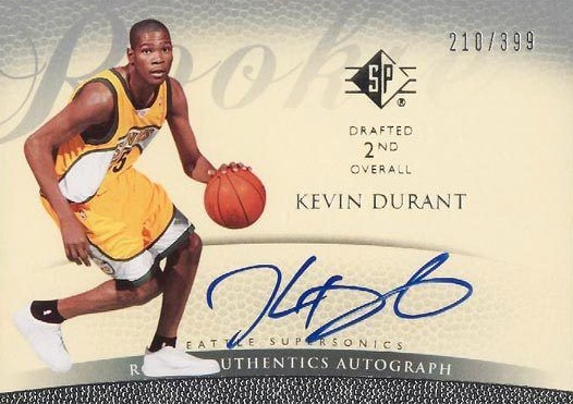 Top 15 Kevin Durant Rookie Cards 17