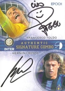 2016-17 Epoch FC Internazionale Milano Stars and Legends Soccer Cards 34