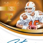 2017 Panini Immaculate Collection Collegiate Football Cards