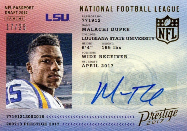 2017 Panini Prestige Football Cards 34