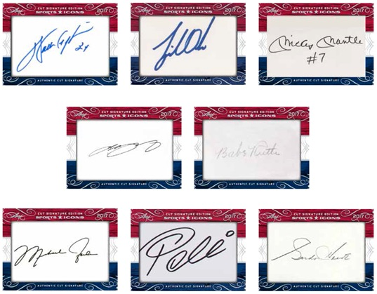 2017 Leaf Sports Icons Cut Signature