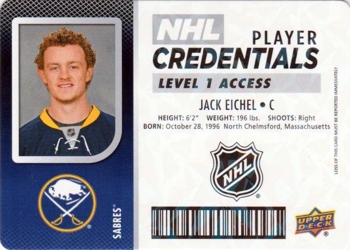 2017-18 Upper Deck MVP Hockey Cards - Rookie Redemption List Added 26