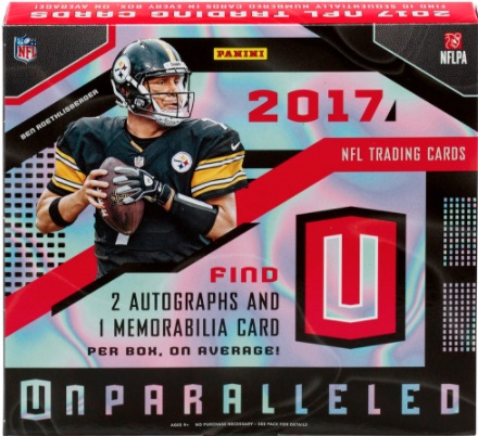 2017 Panini Unparalleled Football Checklist Set Info Boxes Details Date