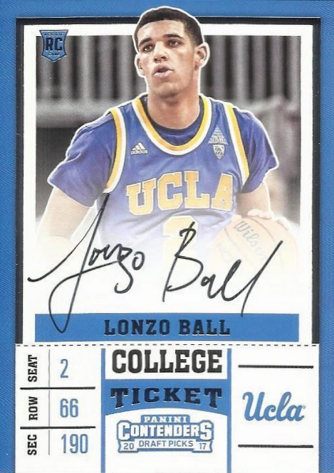 8c7b548b977 Lonzo Ball Rookie Card Checklist