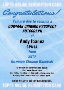 Ultimate 2017 Bowman Chrome Prospect Autographs Breakdown 100
