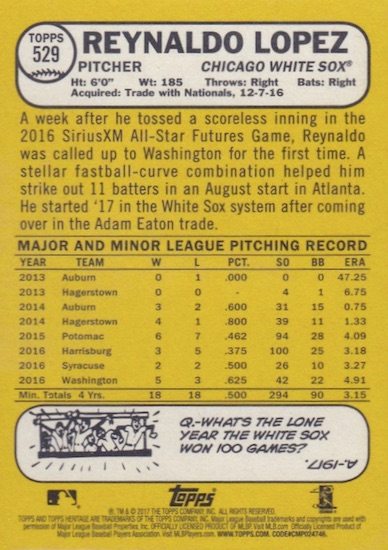 2017 Topps Heritage High Number Baseball Variations Guide 148