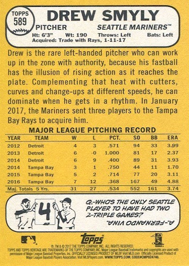 2017 Topps Heritage High Number Baseball Variations Guide 144